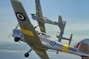 de Havilland DHC-1 Chipmunks in Flight